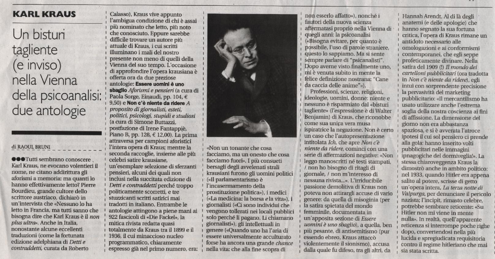 kraus Il Manifesto Alias 28-10-2012