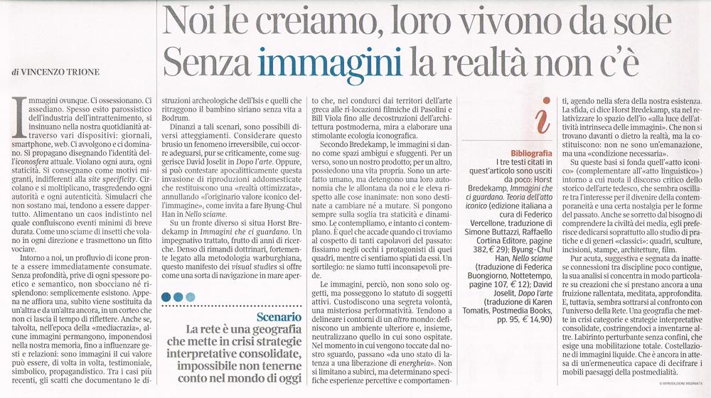 Vincenzo Trione su La lettura #198