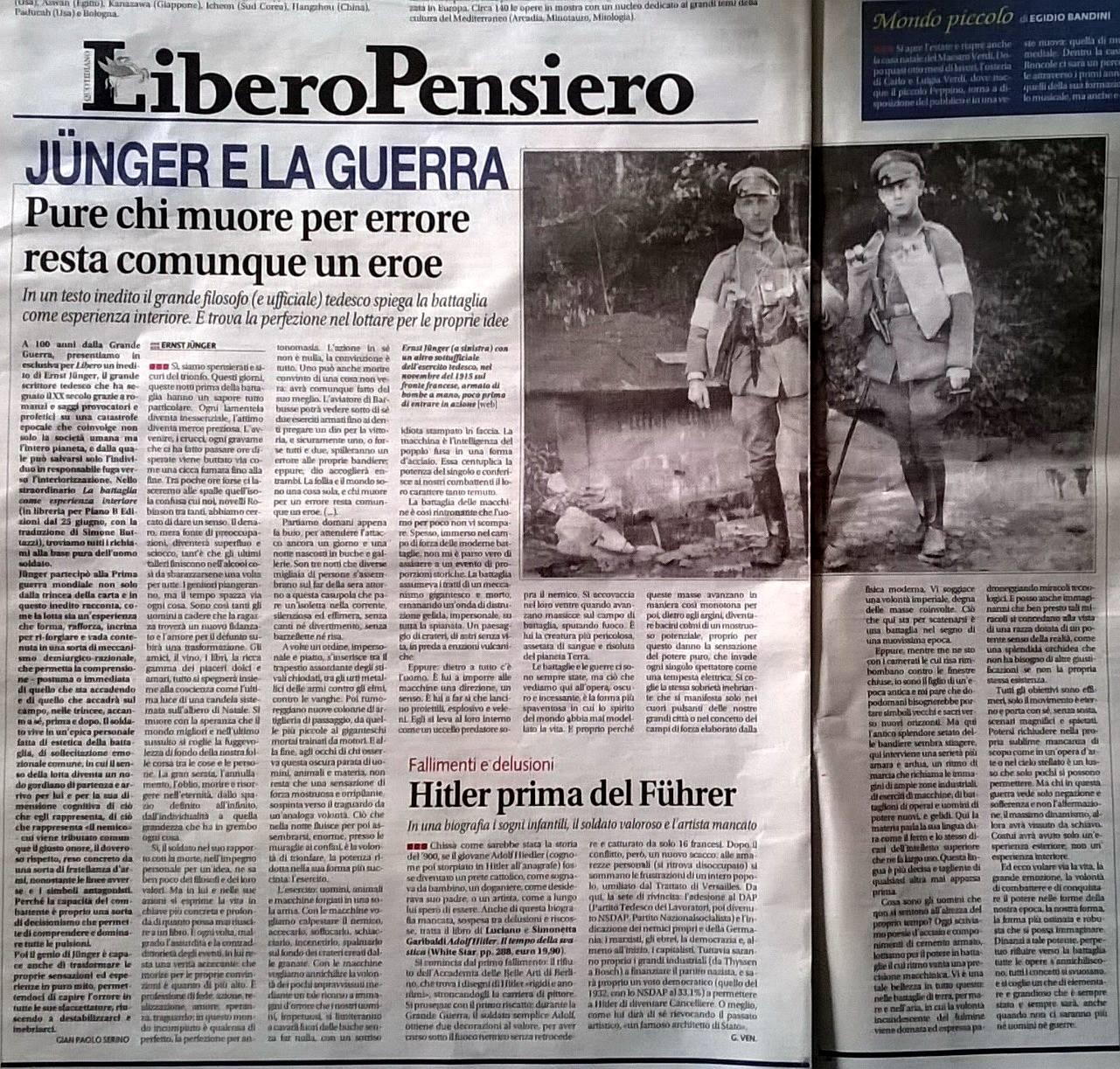 Serino, Jünger e la guerra